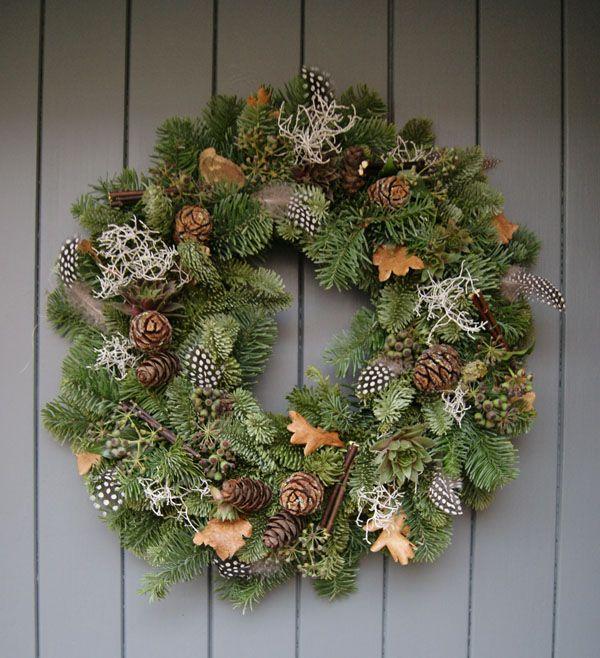 A foraged Christmas wreath
