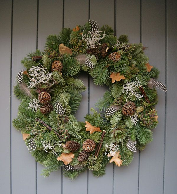 A foraged Christmas wreath