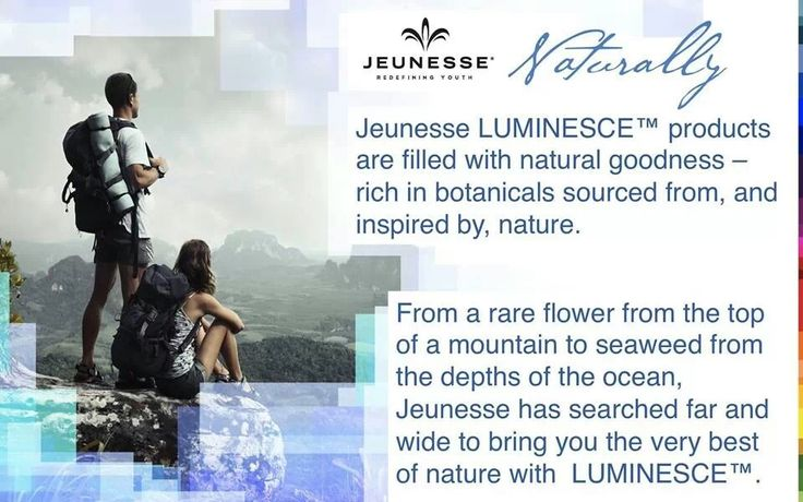 Jeunesse product filled with natural goodness
