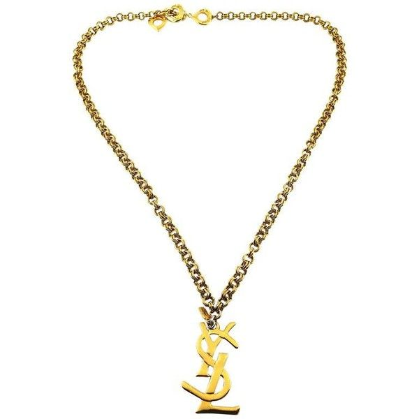 Preowned Yves Saint Laurent Vintage Chunky Chain Necklace Ysl Logo... ($501) ❤ liked on Polyvore featuring jewelry, necklaces, chain necklaces, white, heart chain necklace, heart charm, chunky chain necklaces, heart shaped necklace and chunky heart necklace