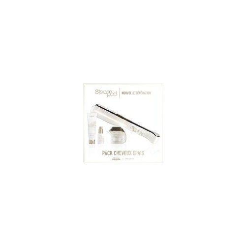 L'oreal - Pack Steampod 2.0 - fer à lisser vapeur  + Sérum + Lait creme de lissage cheveux épais