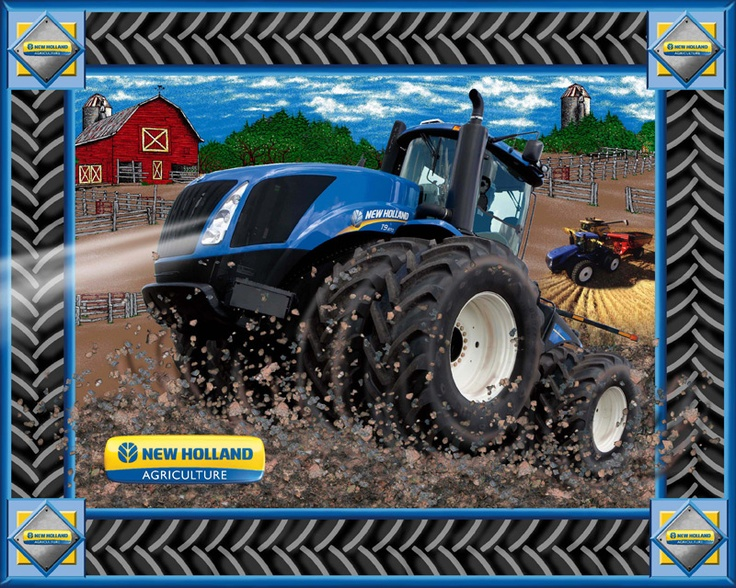 New Holland Tractor Fabric : New holland panel quot large perfect for a