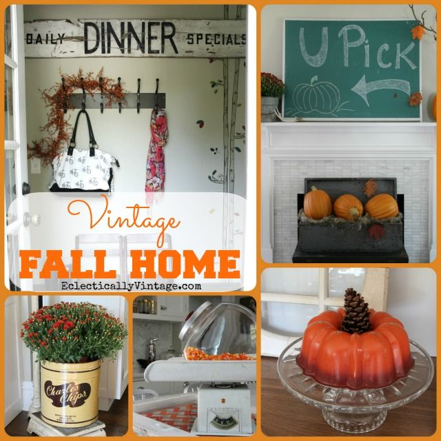 Diy Home Decor Fall Home Tour: 25+ Best Ideas About Vintage Fall Decor On Pinterest