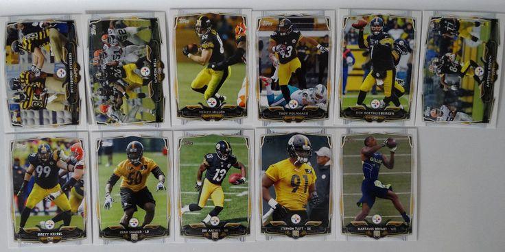 2014 Topps Pittsburgh Steelers Team Set of 11 Football Cards #PittsburghSteelers