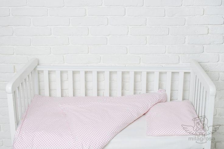 Домашний текстиль Комплект сменного постельного Розовые горошки