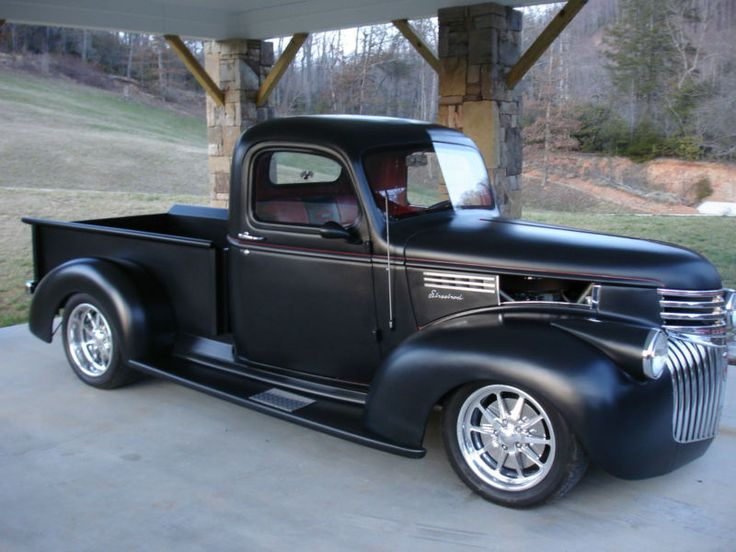 46 Chevy- love the flat black!