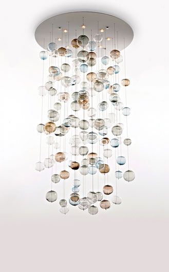 Bubbles Chandelier and other unique lighting ideas by Lucia