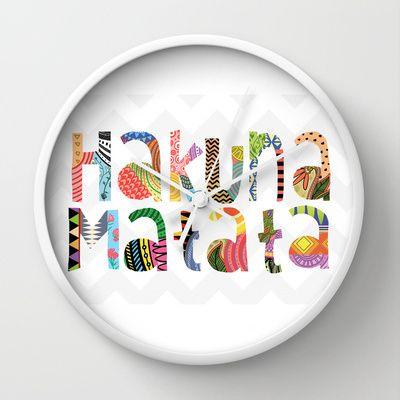 Hakuna+Matata+Wall+Clock+by+LookHUMAN++-+$30.00