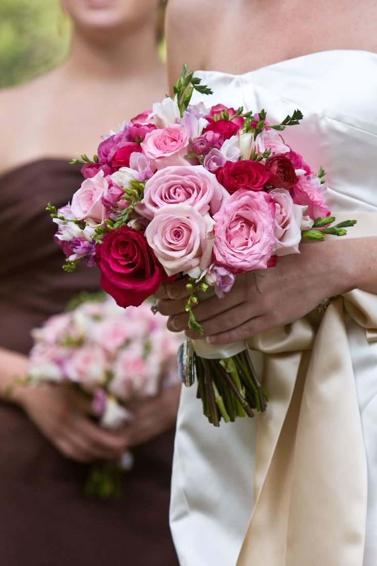 Oh how I miss Allburns...pink wedding bouquet