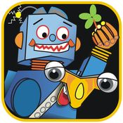 """Robots on the Moon by Udovic Design LLC ($0.00) part of a growing collection of stories specifically designed for co-reading, or reading with your child. The stories synchronize reading with action and sound effects to support the storyline. The """"just enough"""" lyrical animation keeps kids interested and doesn't overpower the reading experience."""