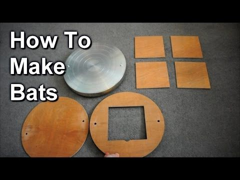 How To Make Bats For Potter's Wheel - YouTube