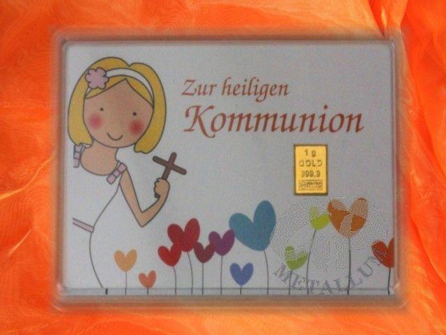 1 g Gold Geschenkbarren Motiv Kommunion Mädchen - incl. Zertifkat http://www.gp-metallum.de/1-Gramm-Gold-Geschenkbarren-Motiv-Kommunion-Maedchen
