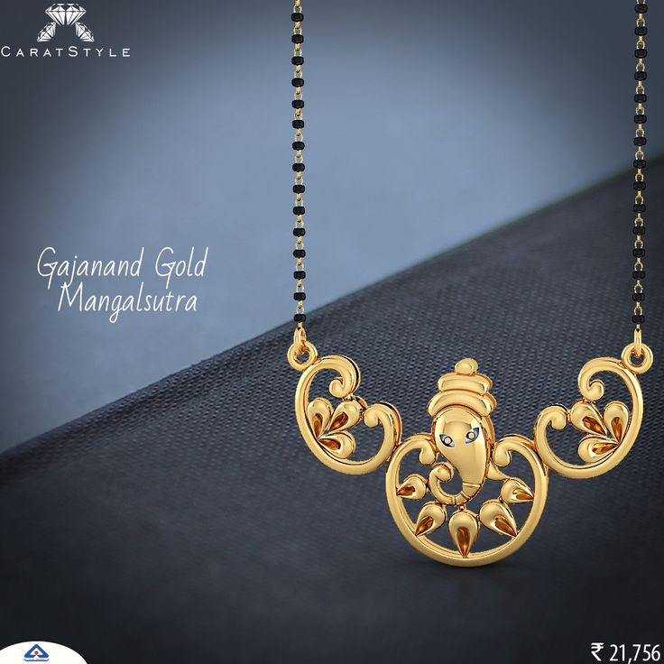 Adorn your idol in #gold #mangalsutra.