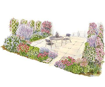 I like the idea of a patio garden.  Being able to sit out and smell and look at beautiful flowers is wonderful.