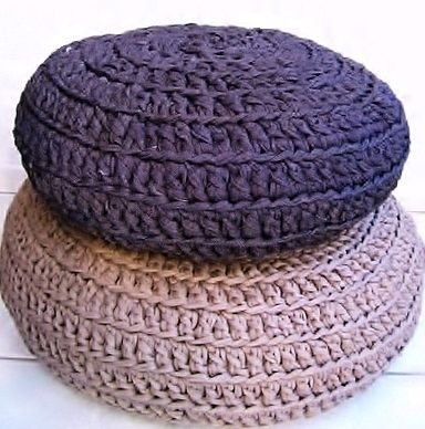 Crochet kit Zpagetti pouf! now available in our webshop www.hoooked.nl patern is also available