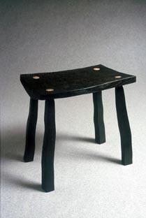 Cleft Oak Furniture - Black Stool.