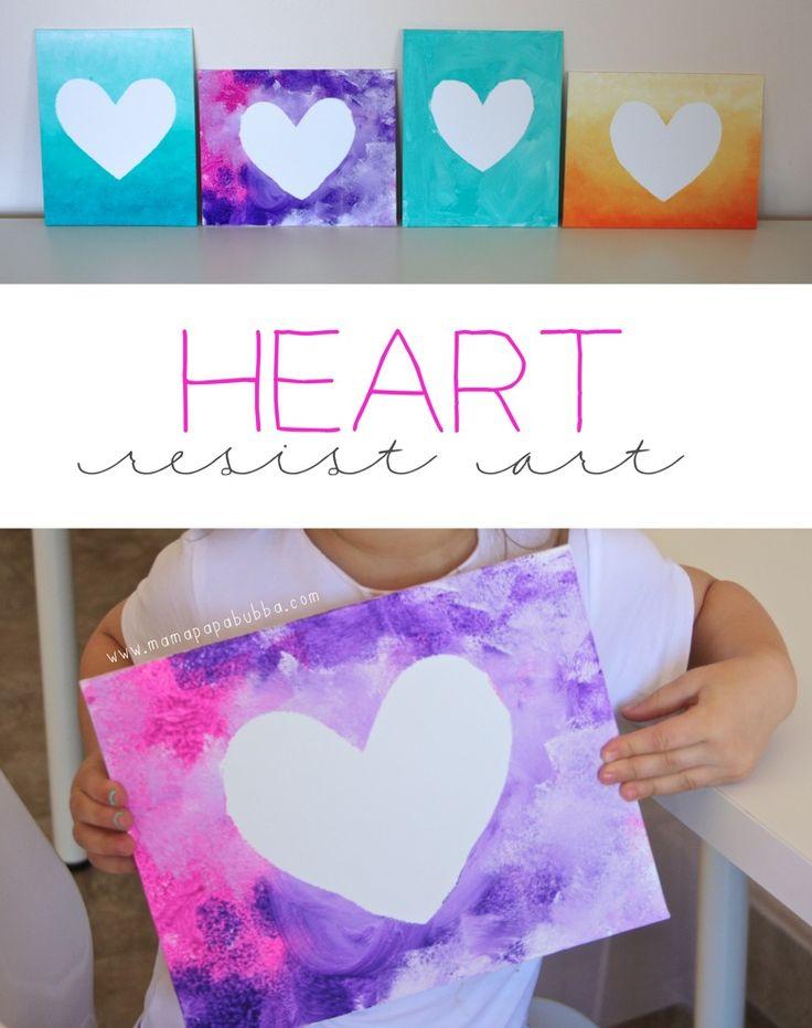 Simple Heart Resist Art | Mama Papa Bubba