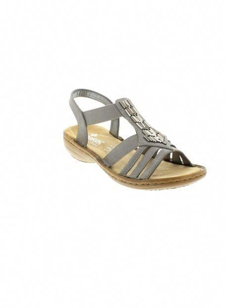 8b70ecf65 RIEKER SHOES - Lovely Comfy Grey Sandal #riekershoes   Rieker Shoes ...