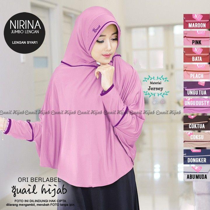 Nirina By Quail Hijab Harga 73rb Bahan Jersey Produk Original Dari Quail Hijab Beli 4pcs Diskon 5rb Per Pcs Dapatk Hijab Ootd Hijab Hijab Fashion