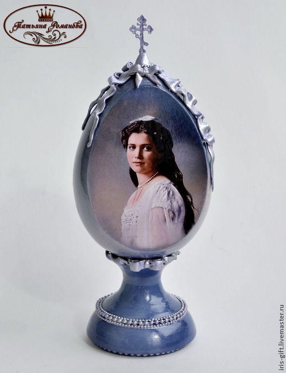 """Купить Декоративное яйцо """"Княжна Мария"""" - сиреневый, подарок на Пасху, ручная авторская работа"""