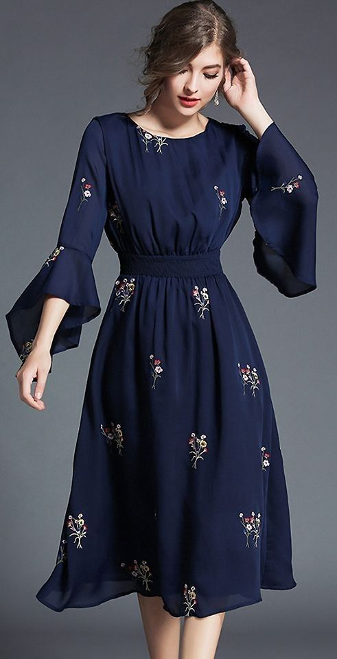 e03d32a9218f Blue  Floral  Dress  Dresses  EveningWear