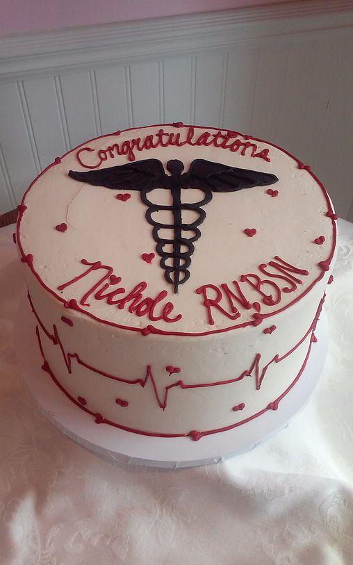 Cardiac Nursing Cake - SweetPea Cakes, Bakery, Crystal Lake | BUTTERCREAM PARTY CAKES