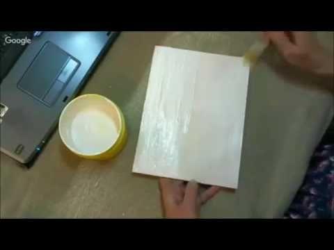 Вживление распечатки в сложный фактурный фон Раушания Нуретдинова Университет Декупажа - YouTube