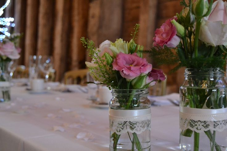 Vintage table decorations for Blake Hall, Essex