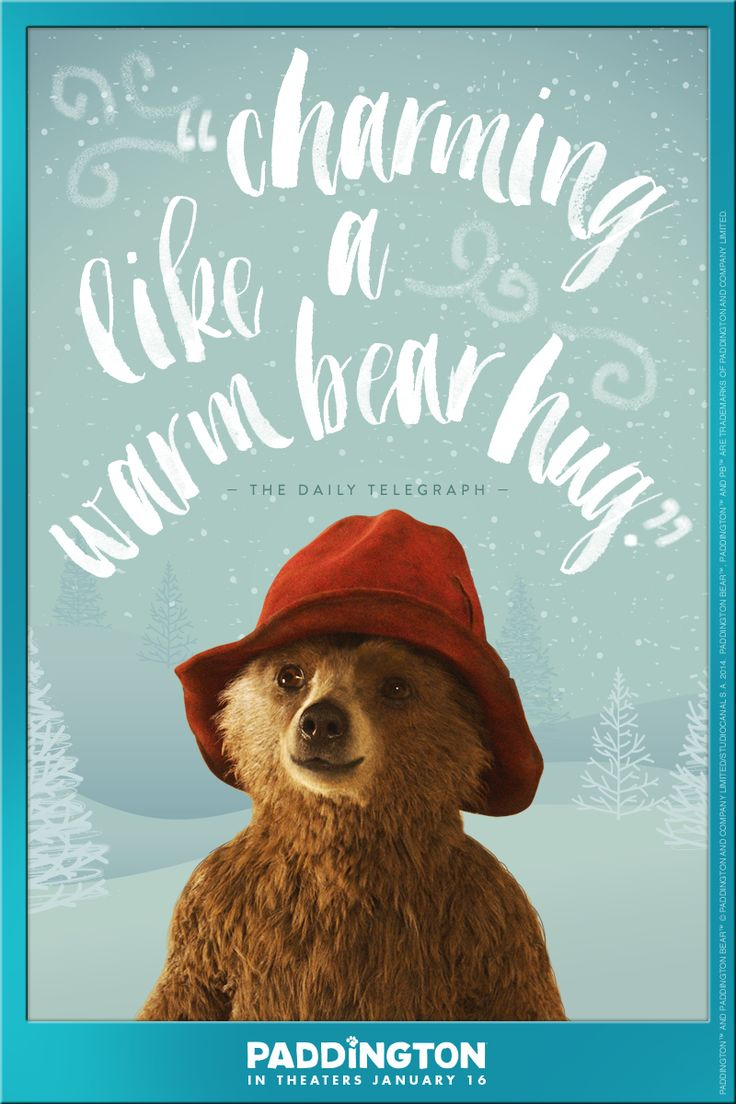 """The Daily Telegraph raves: the Paddington movie is """"charming...like a warm bear hug!"""" Gather your little ones and family and prepare to be embraced on January 16, 2015. Paddington the movie, only in theaters. Click to read more."""