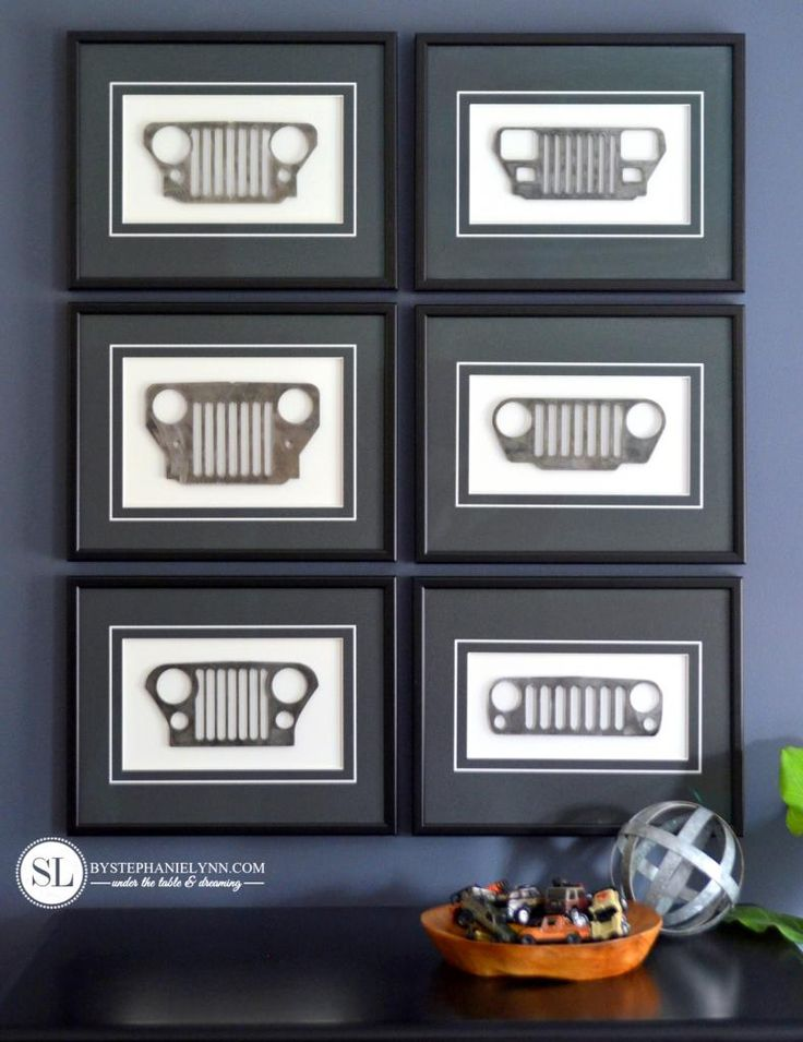 Framed Mini Jeep Grill #michaelsmakers