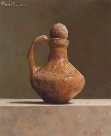 ''' Kruikje '',27.0 x 22.0 cm - Olieverf op paneel - 2005 by  Marius van Dokkum