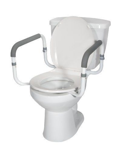 Medical Toilet Safety Rail Frame Support Bars Arms Elderly Disabled Bathroom NEW #DriveMedical