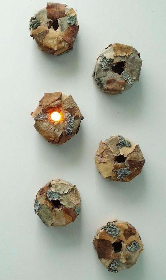 Flameless Tealight Tea Light Covers Set of 6 by OutdoorIndoorDecor