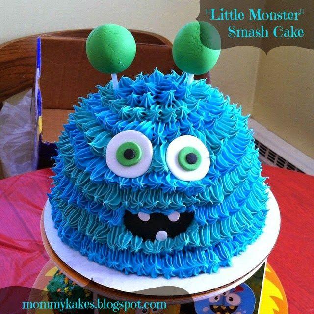 """Mommykakes: """"Little Monster"""" Smash Cake"""