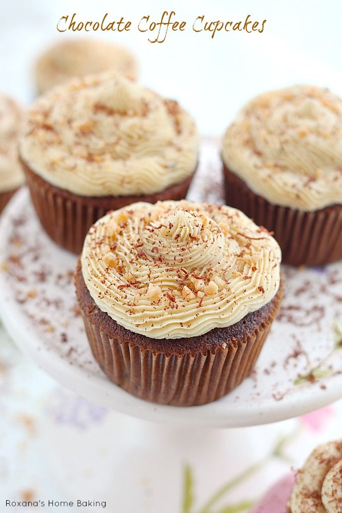Moist, sweet and irresistible chocolate coffee cupcakes made with cold brewed coffee and frosted with coffee flavored buttercream. Recipe from Roxanashomebaking.com