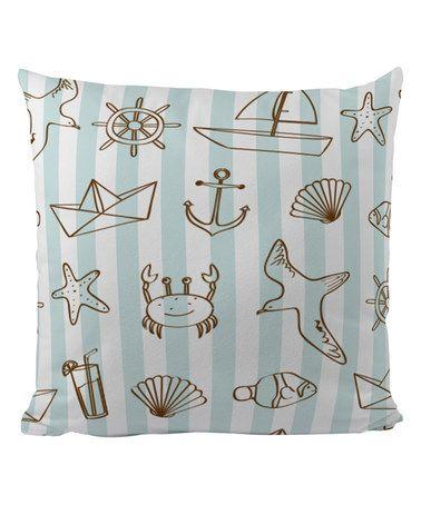 Look at this #zulilyfind! Blue & White Nautical Pillow Case #zulilyfinds