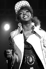 Lauryn Hill-- (born 05/1975) is an American singer, songwriter, rapper, record producer, and actress. She is best known for being a member of the Fugees and for her solo album The Miseducation of Lauryn Hill. Raised mostly in South Orange, New Jersey, Hill began singing with her music-oriented family during her childhood. She enjoyed success as an actress at an early age, appearing in a recurring role on the television soap opera As the World Turns and starring in the 1993 film Sister Act 2: