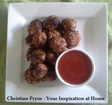 Mexican Meatballs. Great for an appetiser at a party, or a meal with a fresh salad. The ingredients include dried breadcrumbs, skim milk, lean beef mince,  YIAH Casa Mexicana Spice Blend, onion, tomato sauce, fresh parsley and egg. For the recipe, visit my Facebook page - www.facebook.com/ChristinePryorYIAH