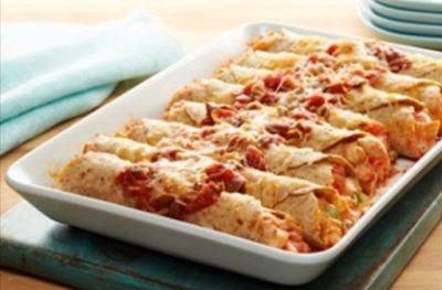 Fiesta Chicken Enchiladas - 7 Smartpoints | Weight Watchers Recipes