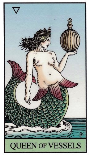 Queen of Vessels, Alchemical Tarot, by Robert Place and Leisa ReFalo, Hermes Publication, 2008