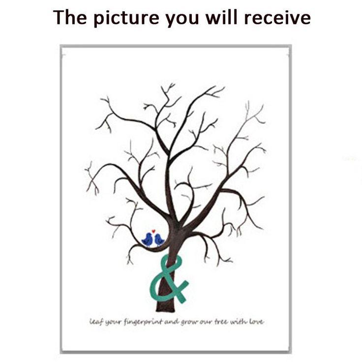 Aliexpress.com: Comprar 1 unid personalizar árbol de huellas dactilares Boda libro de visitas creativo pintura de la lona para Boda decoración favores y regalos de Boda Casamento de lienzo de pintura para principiantes fiable proveedores en Colorful Life Wholesale
