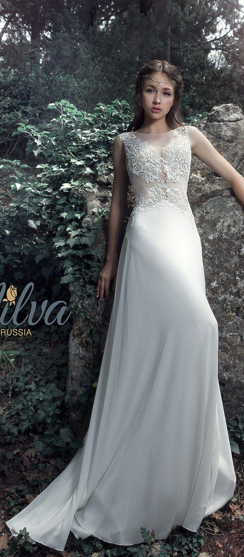 183 best Beach Wedding Dresses images on Pinterest | Lace applique ...
