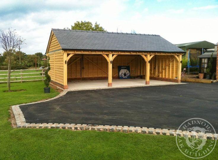 Radnor Oak - The Byton Low-Ridge - Triple Garage - 3 bay Garage - Oak Framed Garage - Oak building