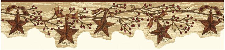 Brewster FFR15051B Neutral Tin Star Garland Border Wallpaper Neutral Tin Star Home Decor Wallpaper Borders