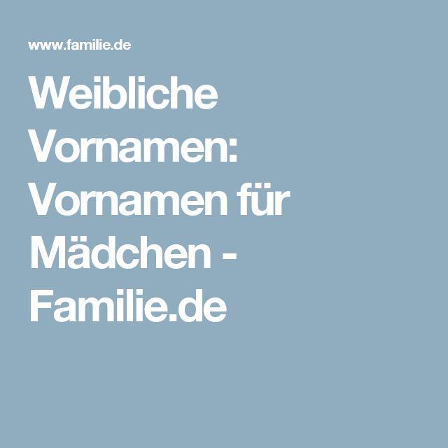 Weibliche Vornamen: Vornamen für Mädchen - Familie.de