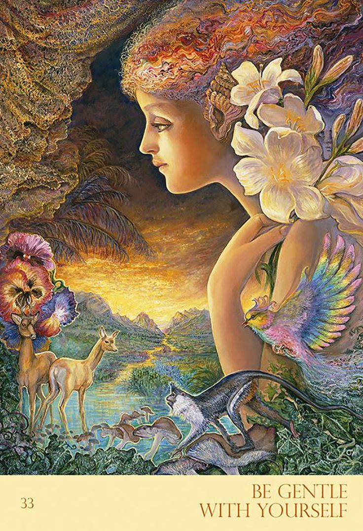"""Be Gentle with Yourself"" Oracle Cards par Josephine Wall"