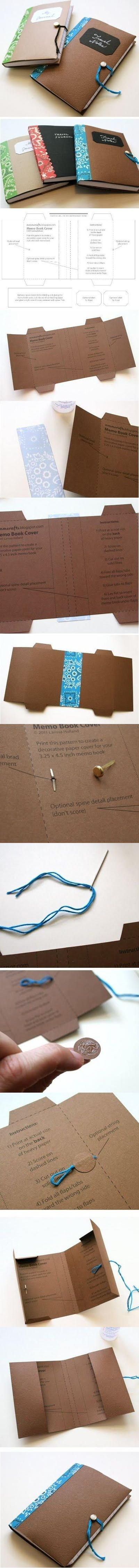 Diario decorado, agenda o libro de apuntes. Plantilla imprimible - Free Printable Template For A Handmade/Decorated Journal, Dayplanner or Memo Book. More