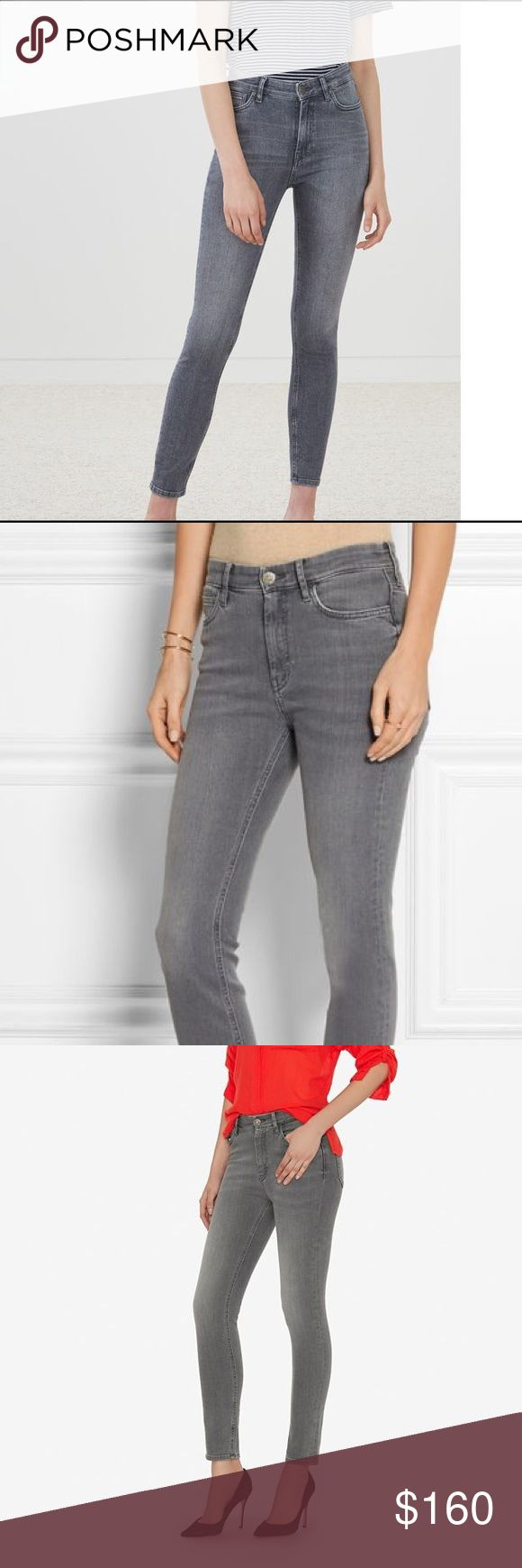 """M.i.h High-rise Bridge Sailor Gray Skinny jeans Only were a few times, out of stock, super comfortable, hight waist jeans, grey, size 29 MiH """"Bridge"""" skinny jeans. Approx. measurements: 9"""" front rise; 28"""" inseam; 10"""" leg opening. Rise sits below the natural waist. Five-pocket style. Fitted through skinny legs. Button/zip fly; belt loops. Polyester/elastomultiester/spandex. Machine wash. Imported. Waist measurements 14 inch M.i.h jeans Jeans Skinny"""