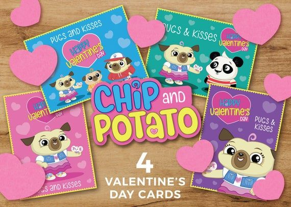 Chip And Potato Netflix Tv Show Valentine S Day Cards Valentine