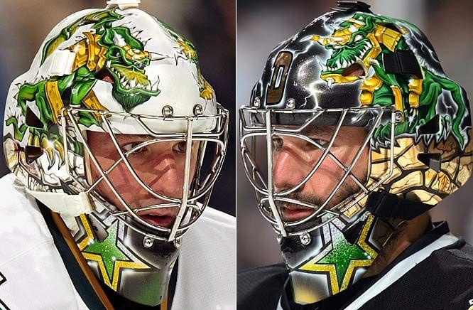 NHL Goalie Masks By Team   Marty Turco - Dallas Stars - NHL Goalie Masks by Team ('08-'09 ...